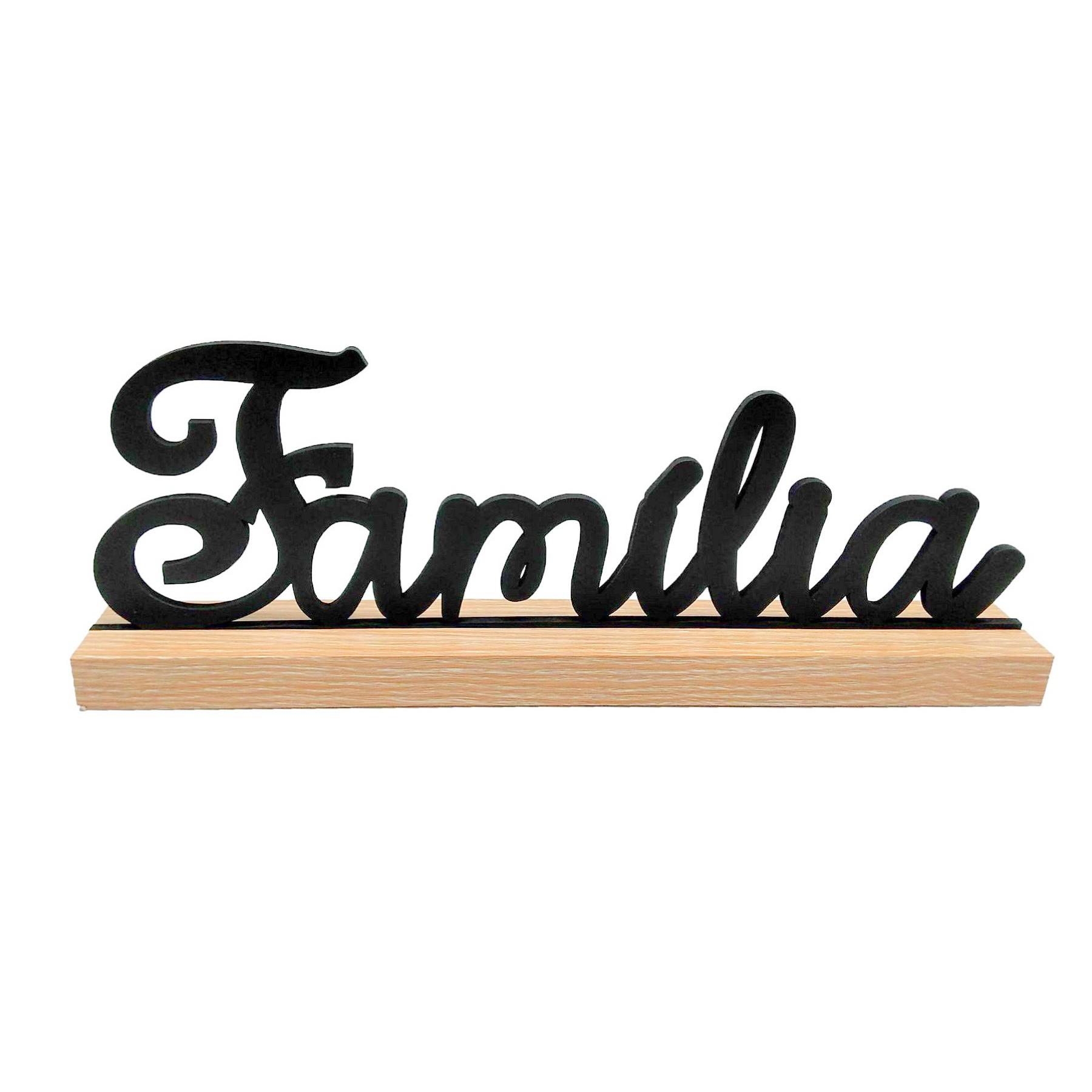 Letreiro Família em madeira