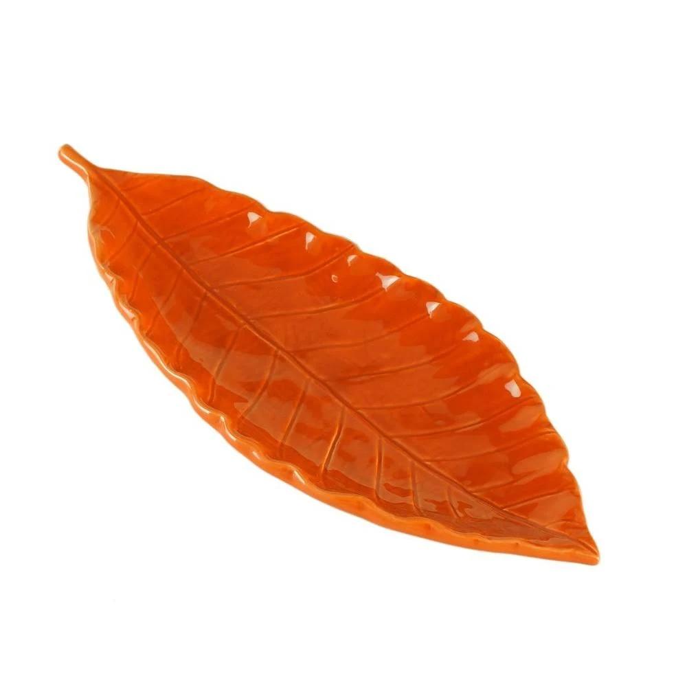 Folha decorativa em cerâmica 24 cm