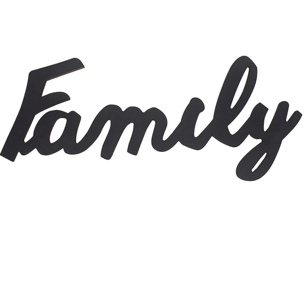 FRASE DECORATIVA EM MDF - FAMILY