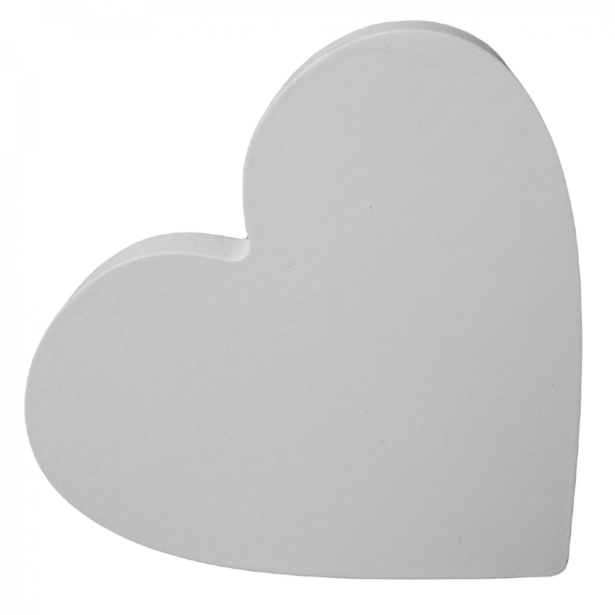 Gancho de madeira Coração branco