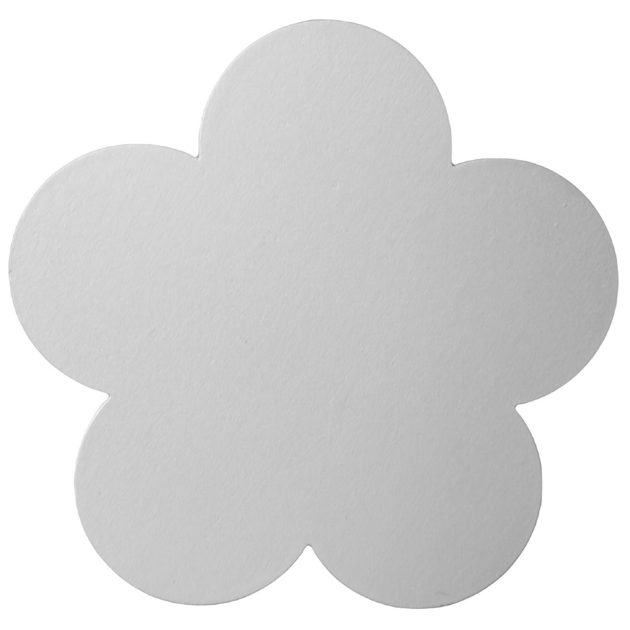 Gancho de madeira Flor branca