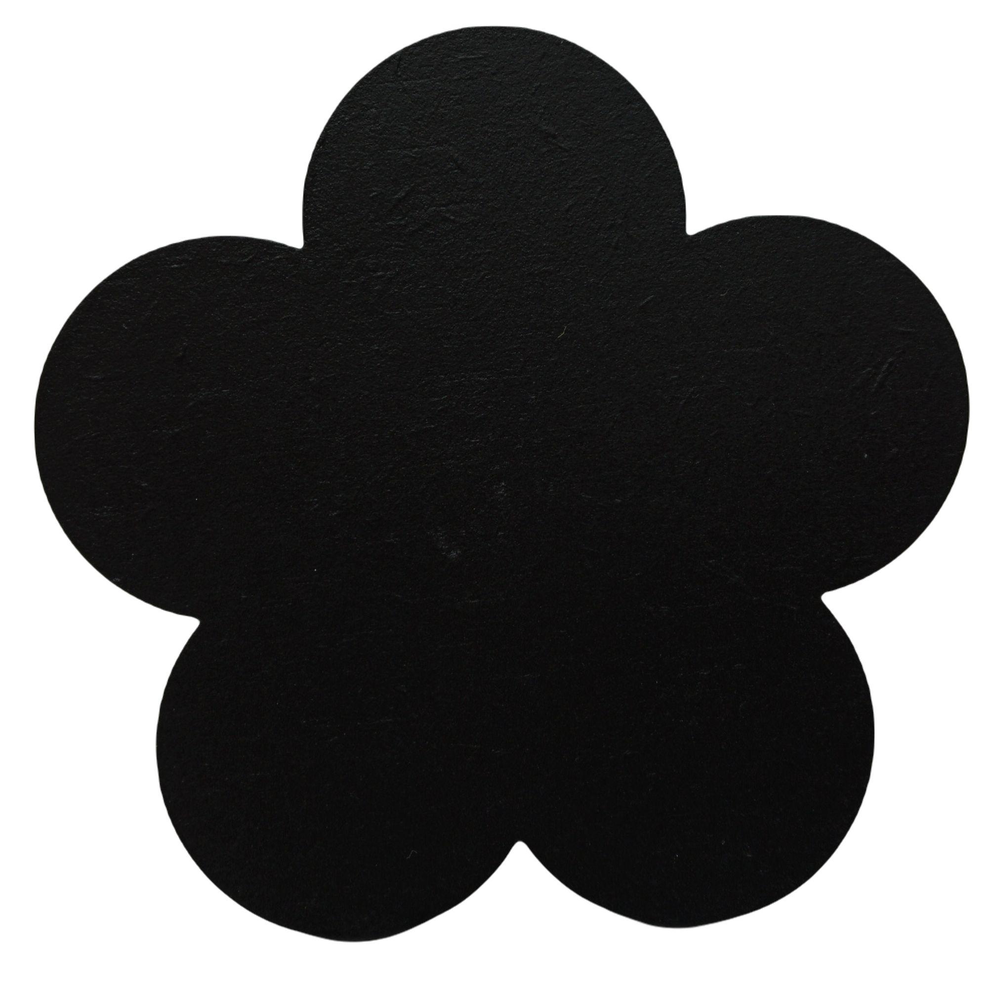 Gancho de madeira Flor preta