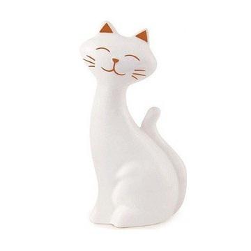 Gato decorativo em cerâmica 14,5 cm