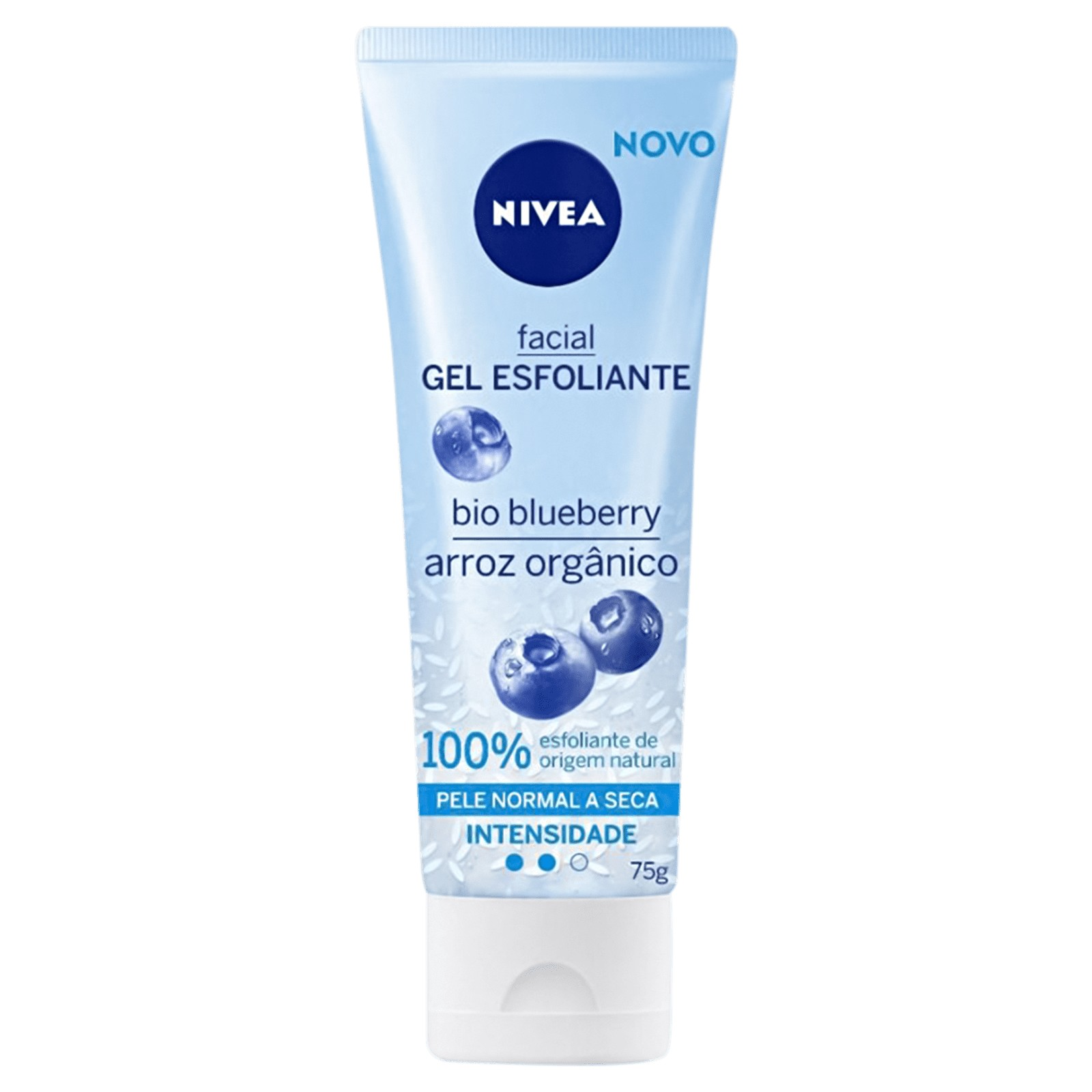 Gel esfoliante facial com bio blueberry e arroz orgânico Nivea