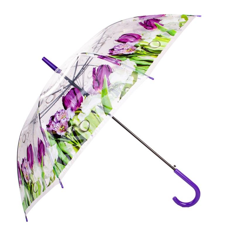 Guarda chuva floral transparente