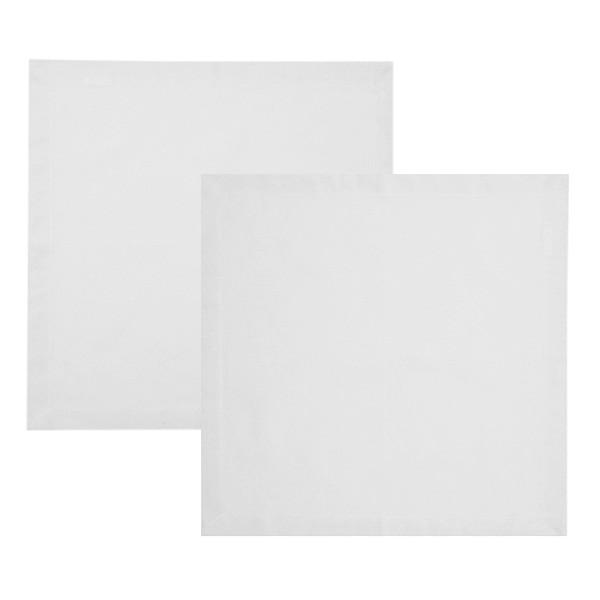 Guardanapos de algodão branco 2 peças