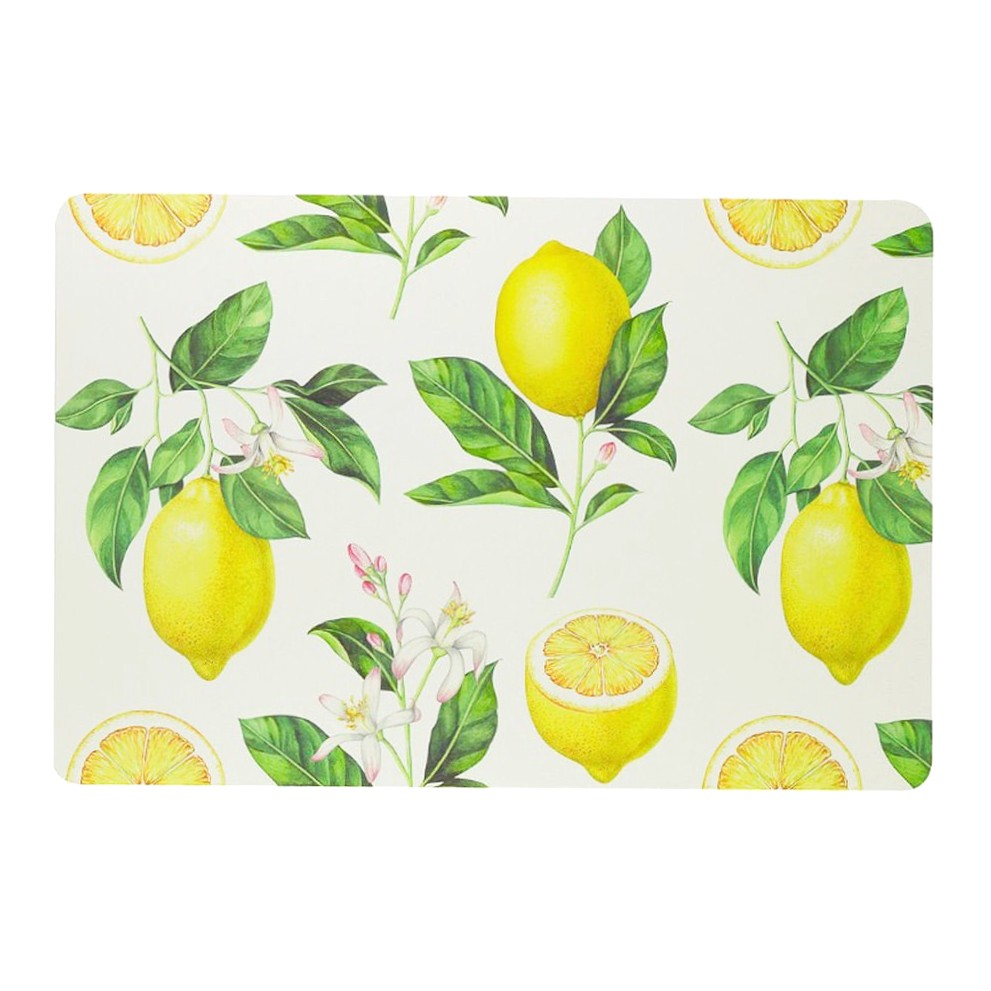 Jogo americano de plástico com estampa de limão siciliano Lyor