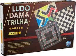 JOGO DE TABULEIRO LUDO,DAMA E TRILHA