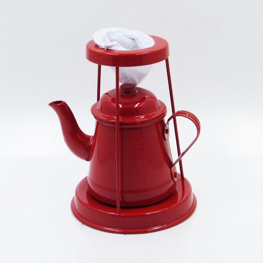 KIT CAFE NO BULE VERMELHO