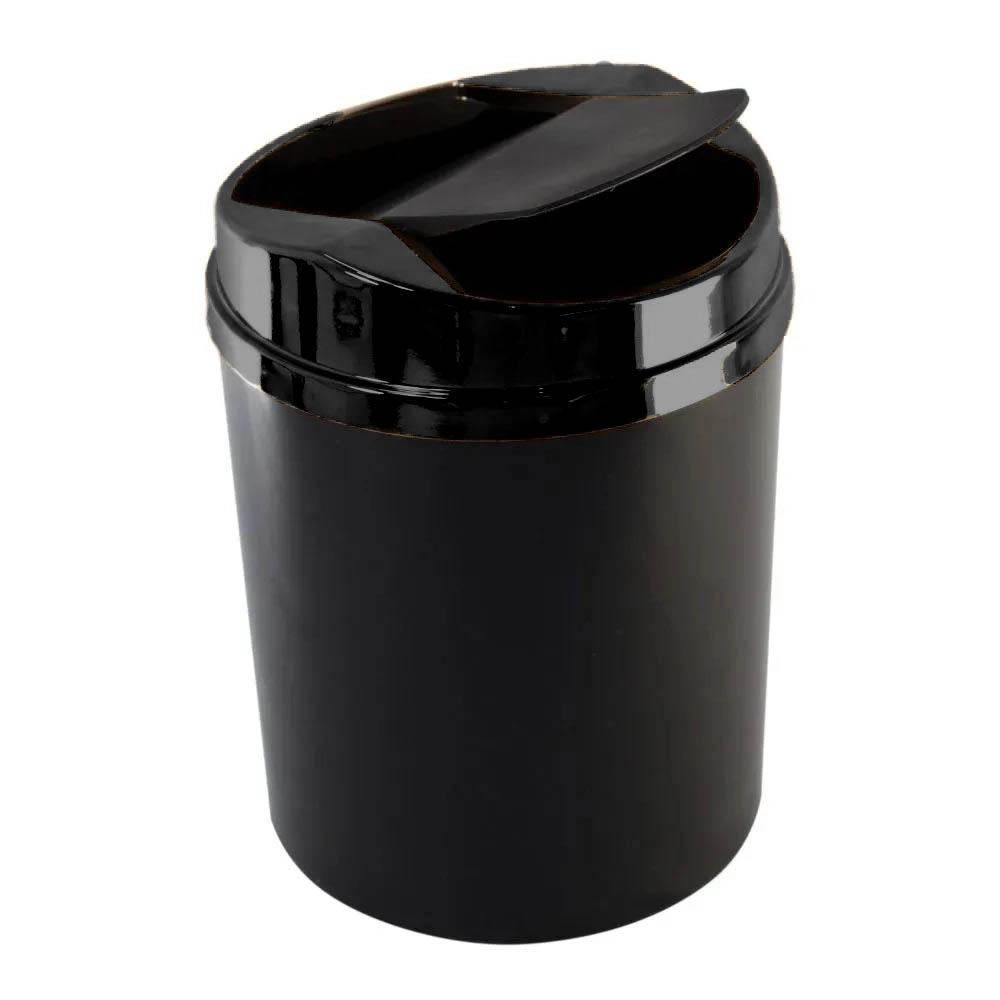 Lixeira com tampa basculante preta 5 litros