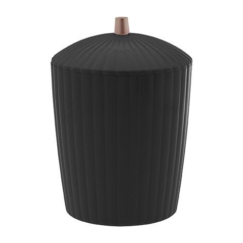 Lixeira Canelatta preta