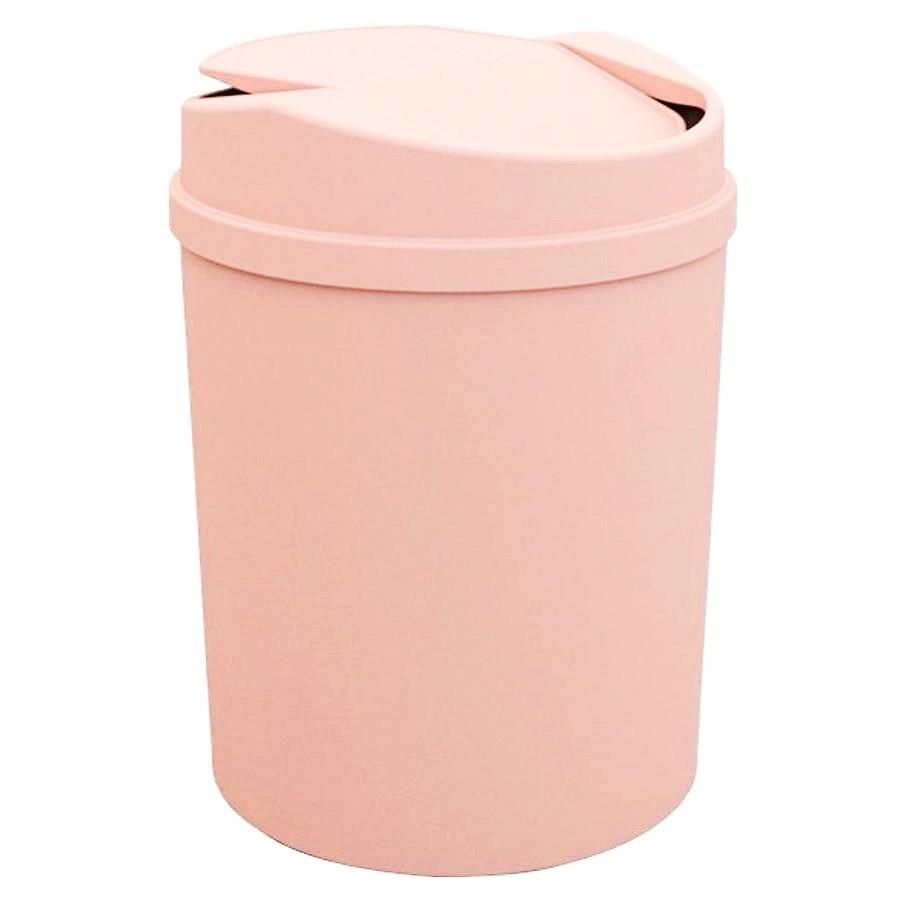 Lixeira com tampa basculante rose 5 litros