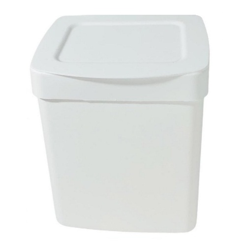 Lixeira com tampa branca 2,5 litros