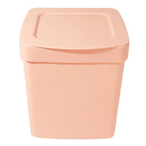 Lixeira com tampa rose 2,5 litros