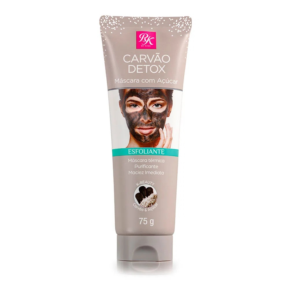 Máscara Facial Carvão Detox com Açúcar RK by Kiss