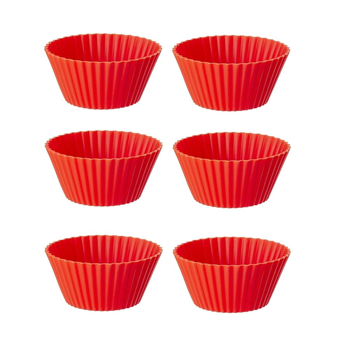 Mini formas de silicone para cupcake 6 peças