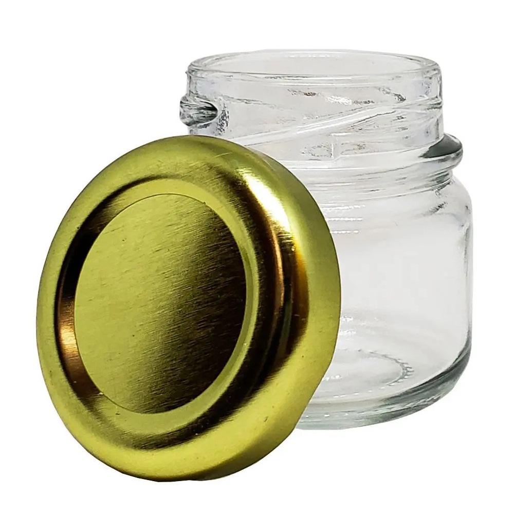 Mini pote de vidro 75 ml