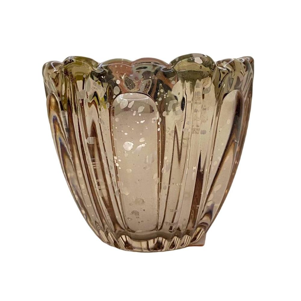 Mini vaso em vidro colorido