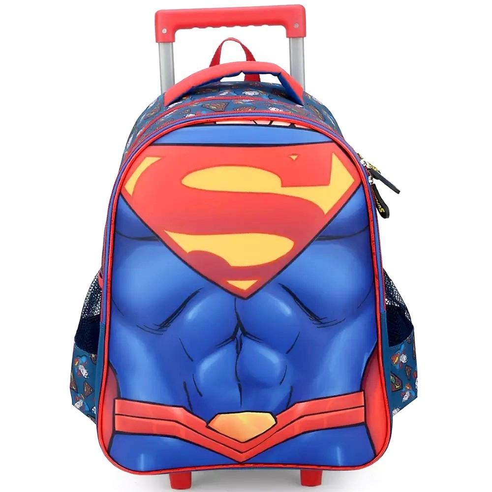 MOCHILA COM CARRINHO SUPERMAN