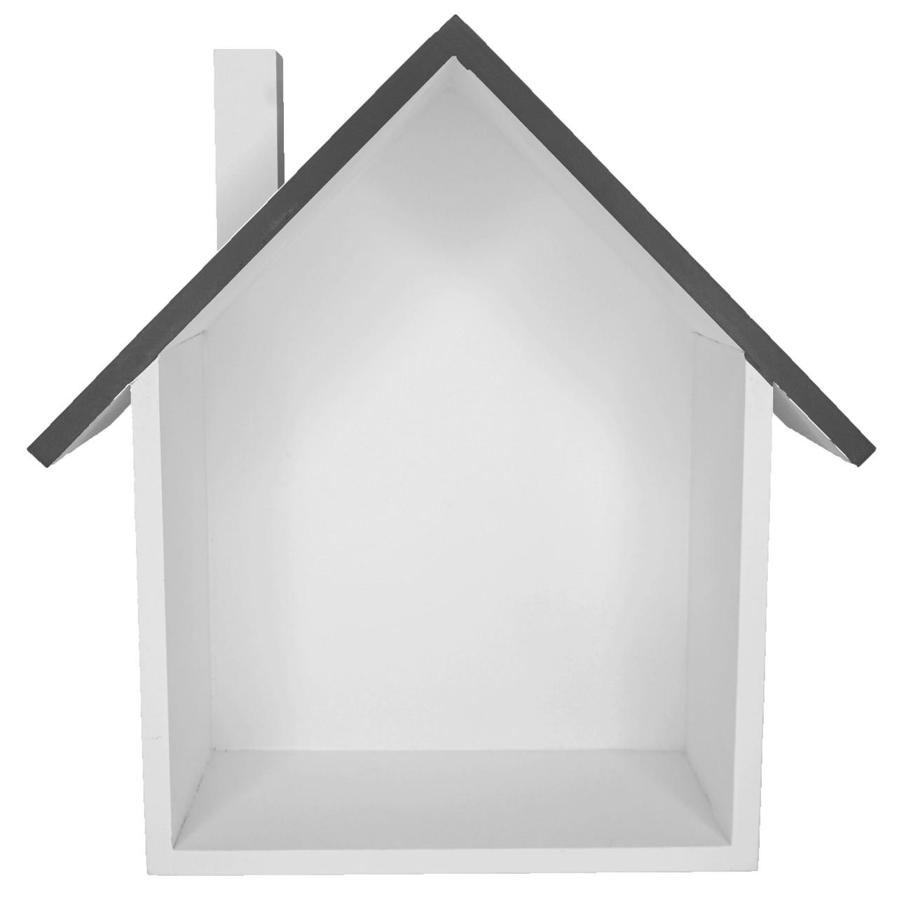 Nicho decorativo Casa de madeira 25 cm