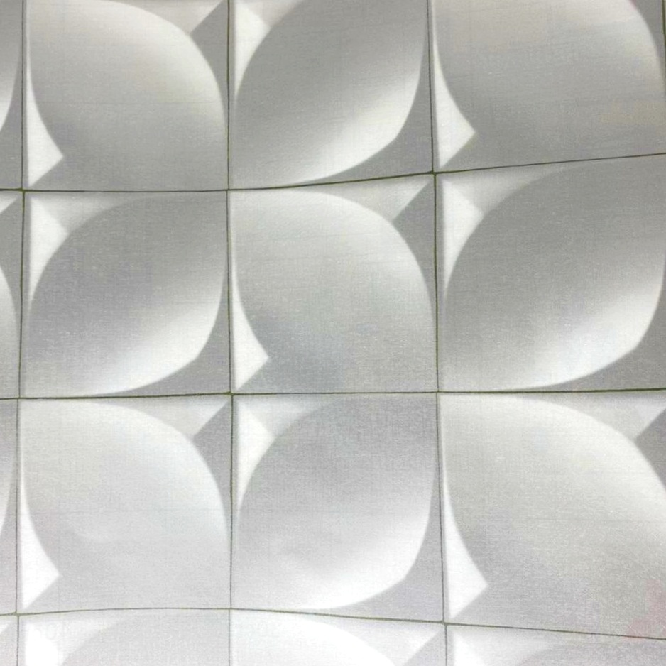 Papel de parede cinza 3D 5 metros
