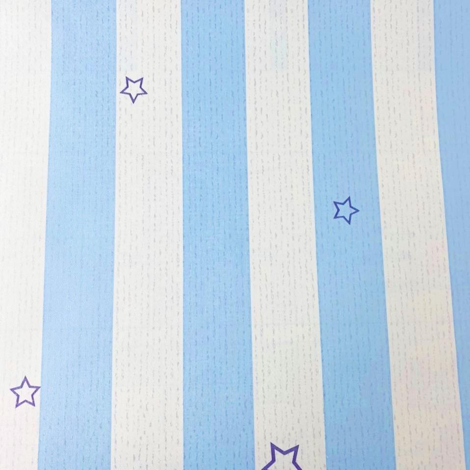Papel de parede Listras azul e branco 5 metros