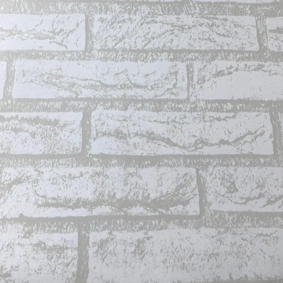 Papel de parede Tijolinho branco 5 metros