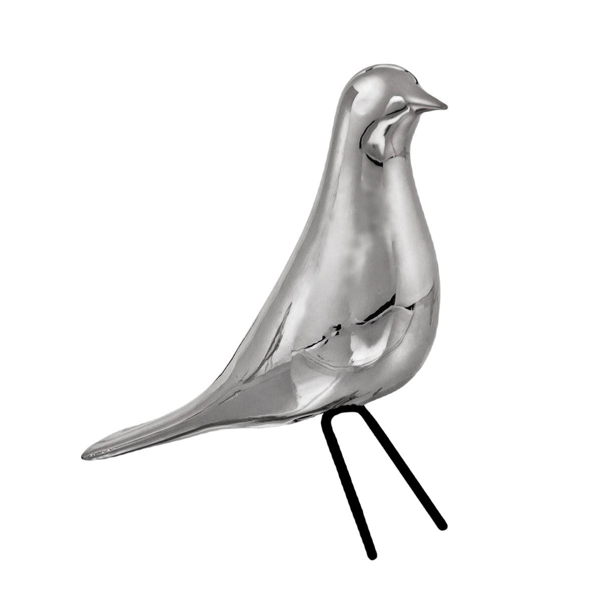 Pássaro decorativo em porcelana