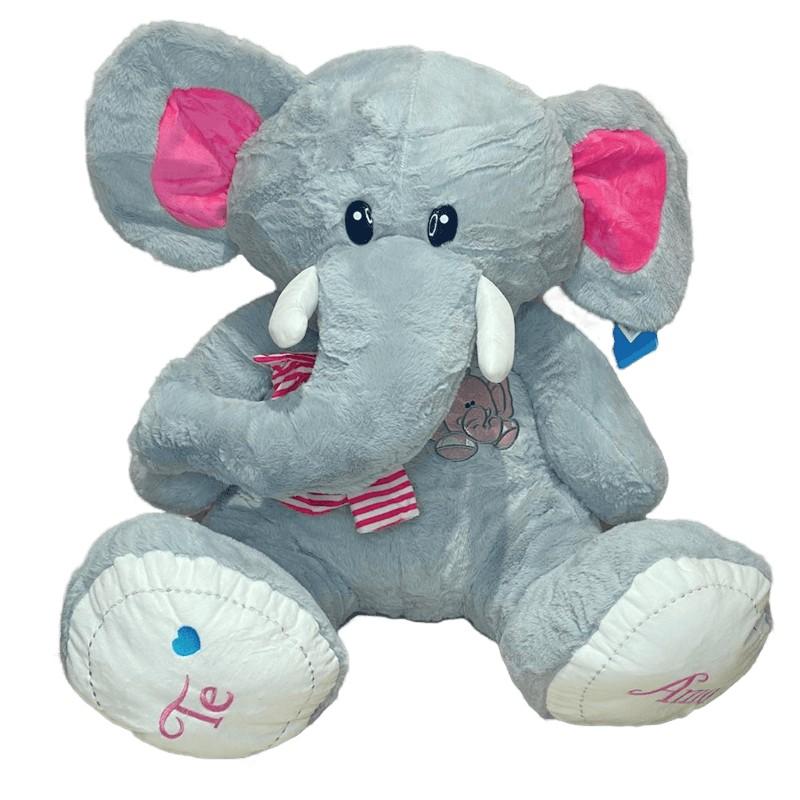 Elefante de pelúcia gigante