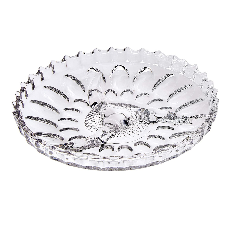 Petisqueira de cristal Jaguar Lyor 23 cm
