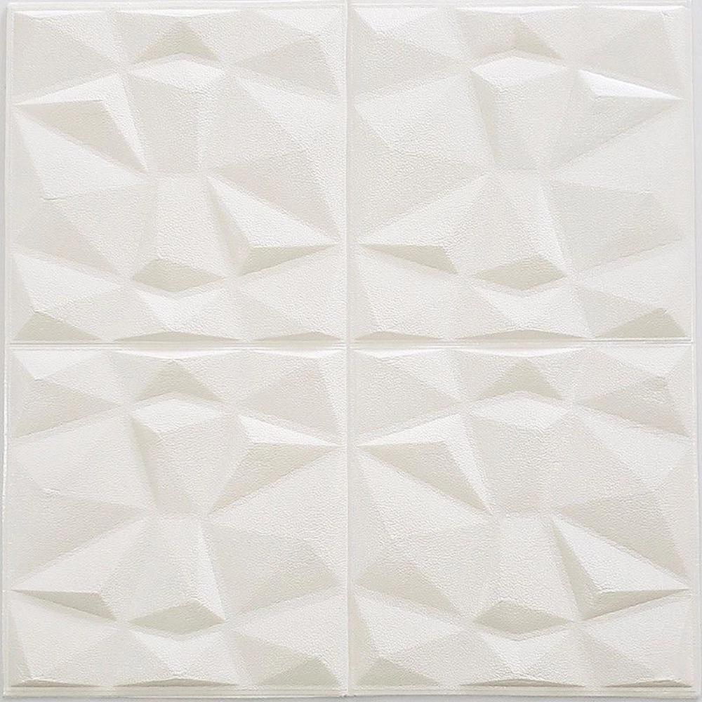 Placa adesiva para parede Diamante 3D