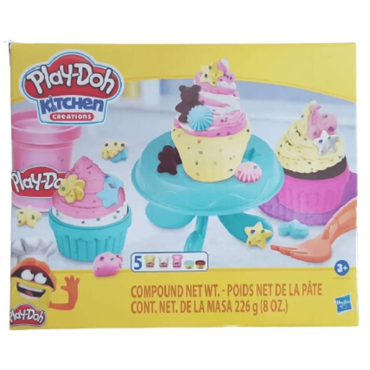 Massinhas Play Doh Cozinha Cupcake com 5 Potes