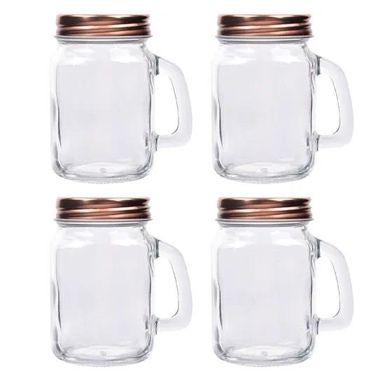 Porta condimentos com tampa 4 peças