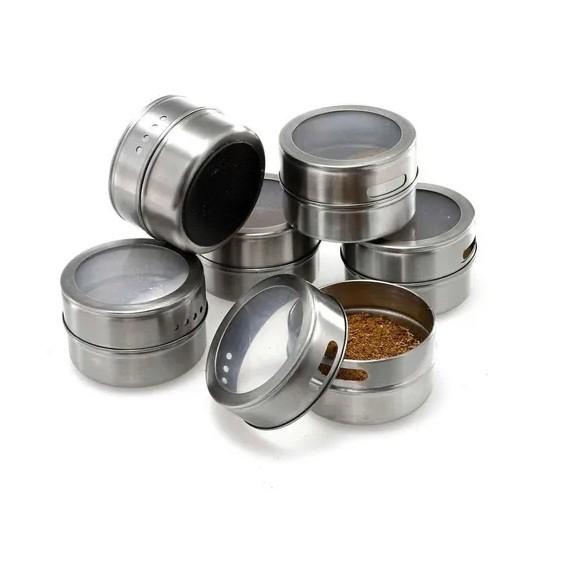 Porta condimentos magnético 7 peças