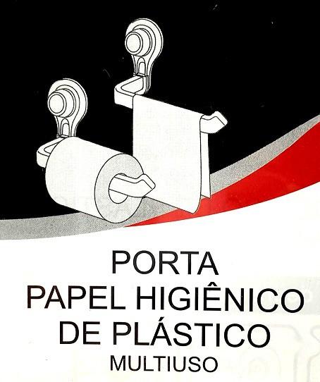 PORTA PAPEL HIGIÊNICO DE PLÁSTICO