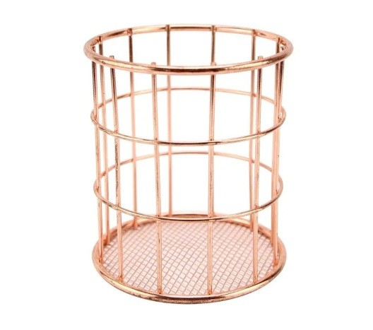 PORTA TALHER OU PINCEL ROSE GOLD