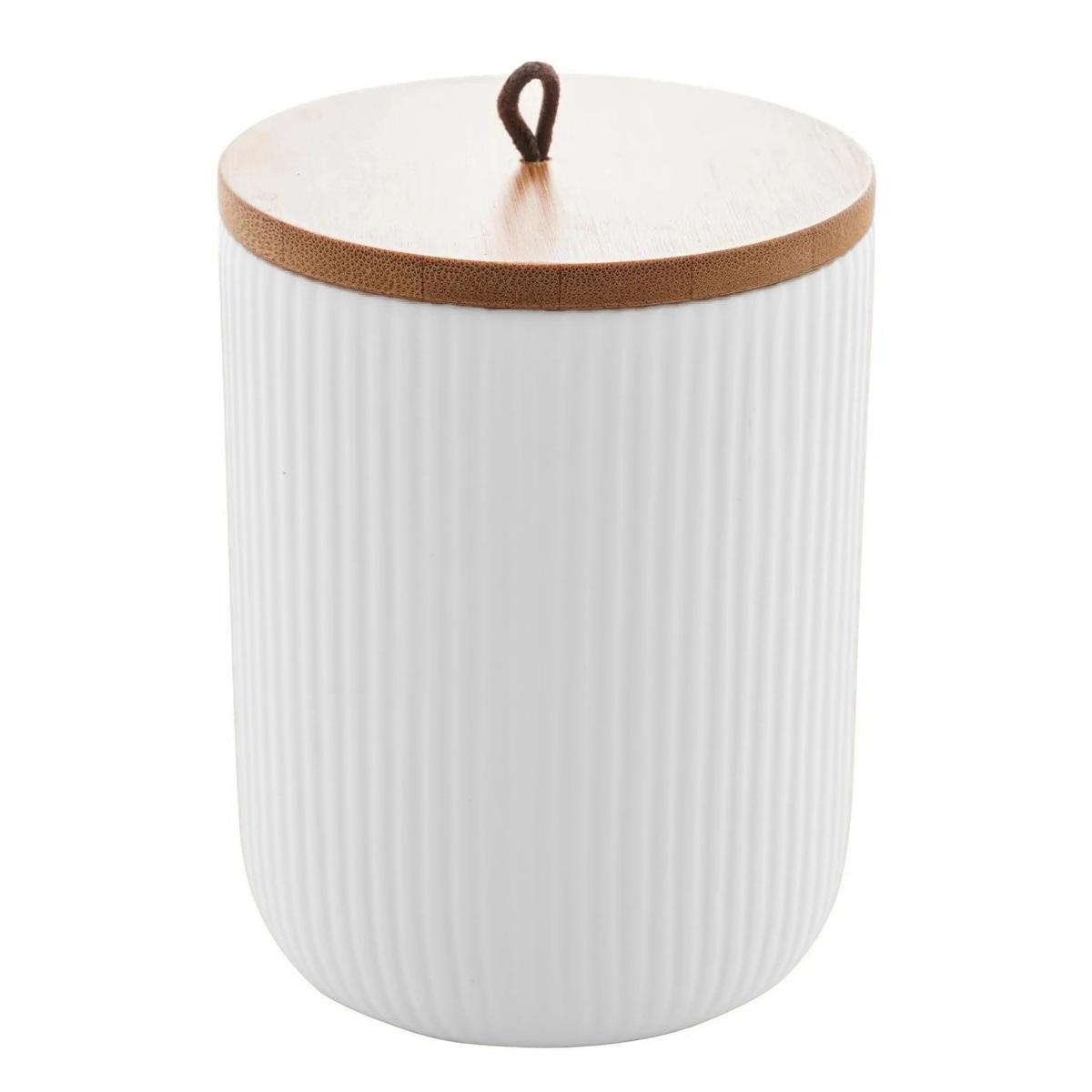 Pote hermético de cerâmica com tampa de bambu Lines Lyor 12,5 cm