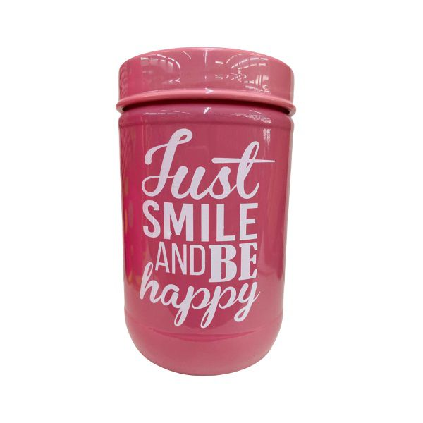 POTE DE VIDRO - JUST SMILE AND BE HAPPY - 660ML