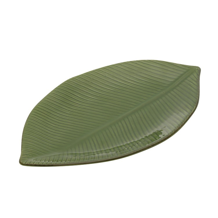 Folha decorativa em cerâmica Banana Leaf Lyor