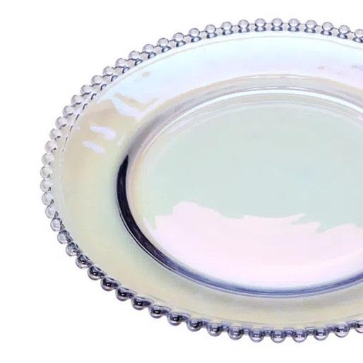 Prato de cristal rainbow Pearl Wolff 20 cm