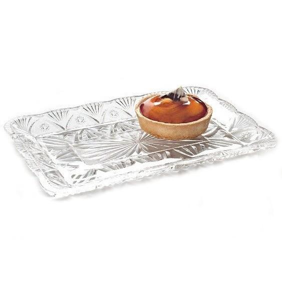 Prato retangular em vidro