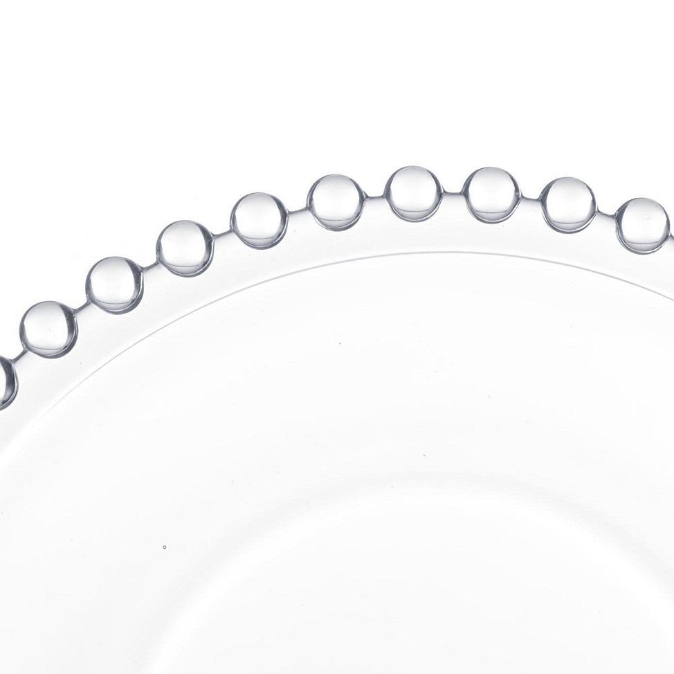 Pratos de cristal Pearl Wolff 20 cm 4 peças