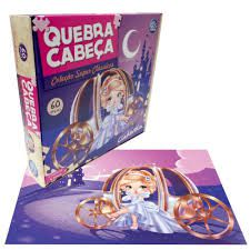 QUEBRA CABECA CINDERELA 60 PCS