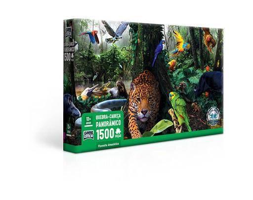 QUEBRA CABEÇA PANORÂMICO 1500 PEÇAS - FLORESTA AMAZÔNICA 2693