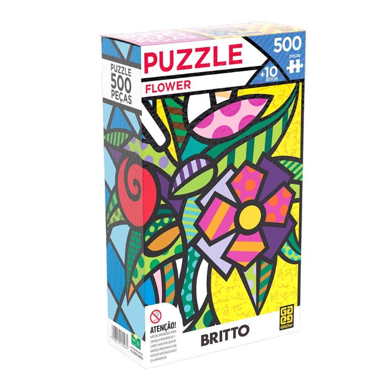 Quebra-cabeça Romero Britto Flower 500 peças