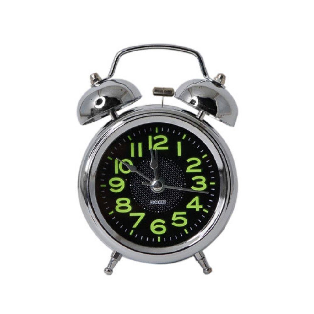 Relógio despertador de mesa redondo fluorescente