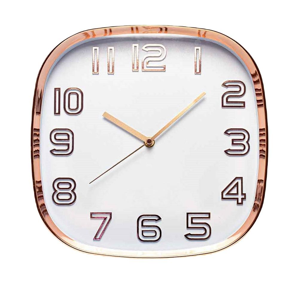 Relógio de parede quadrado