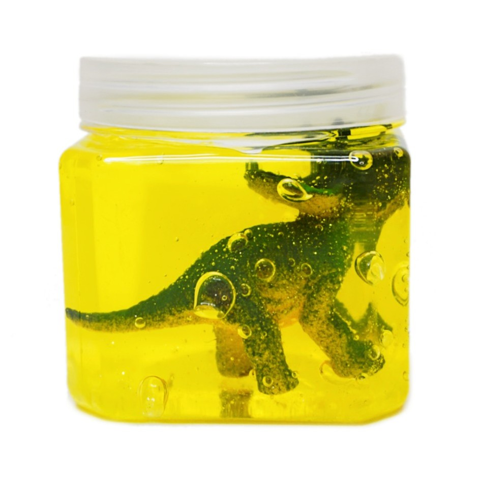 Pote de slime com dinossauro 150 g