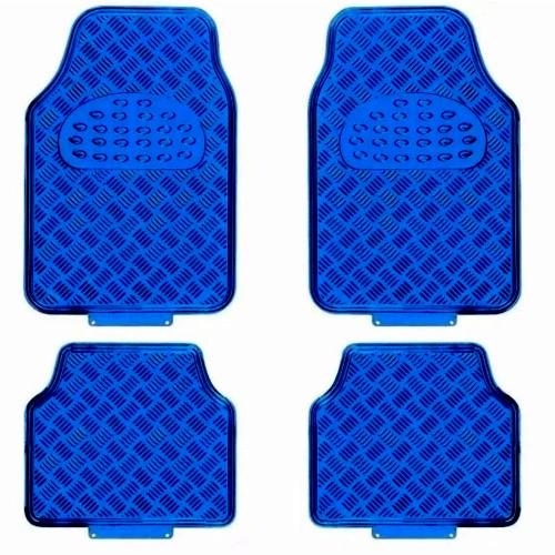 Jogo de tapete automotivo azul 4 peças