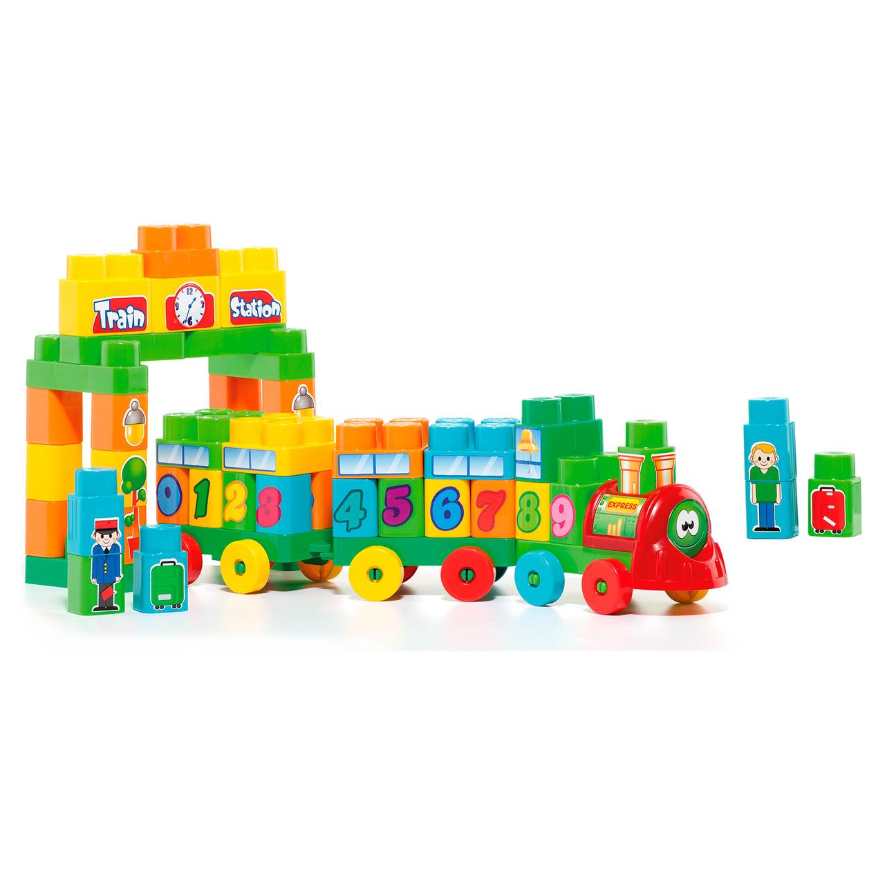 Trenzinho didático Baby Land 70 peças
